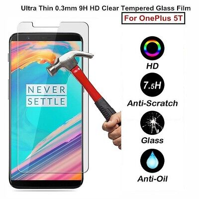AU4.09 • Buy 9H Premium Clear Tempered Glass Screen Protector Guard Film For OnePlus (1+ ) 5T
