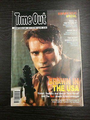 TIME OUT Magazine: July 11th-18th 1990, Arnold Schwarzenegger • 7.99£