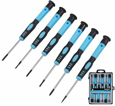£5.19 • Buy BlueSpot 6pc Precision Screwdriver Set Magnetic Tips PC Repair Phillips Slotted