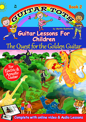 Guitar Tots Book 2 - Book, Online Video & Audio Lessons For Children • 9.99£