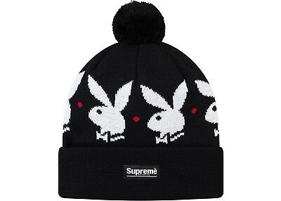 $ CDN126.98 • Buy Supreme Playboy Beenie Hat Black In Hand Now Buynow Ship Now