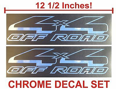 $11.99 • Buy 4x4 Off Road Truck Bed Decals, CHROME (Set) For Ford F-150 And Super Duty