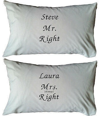 Personalised Embroidered White Cushion Cover- Gift, Present, Wedding, Bedroom • 12.99£