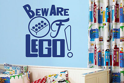 Beware Of Lego Wall Stickers Vinyl Art Decals • 12.99£