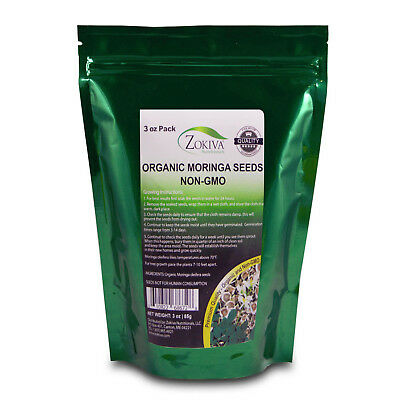 £5.79 • Buy Moringa Seeds Organic Non-GMO Premium Quality 3 Oz Pack In Resealable Pouch