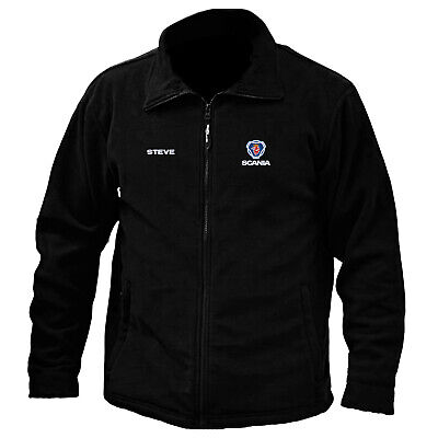 £29.99 • Buy Scania Logo Embroidered & Personalised Anti Pill Full Zip Fleece Work Outdoor
