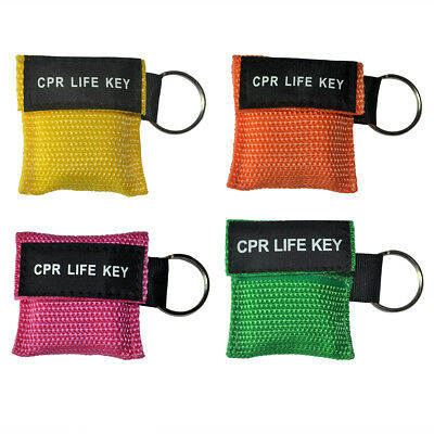 £29 • Buy 40pcs/pack CPR Masks First Aid Training Mouth To Mouth Keyring Face Shields Mask