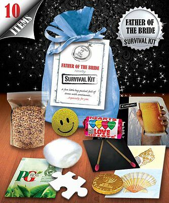 Father Of The Bride Survival Kit - Fun Novelty Gift • 4£