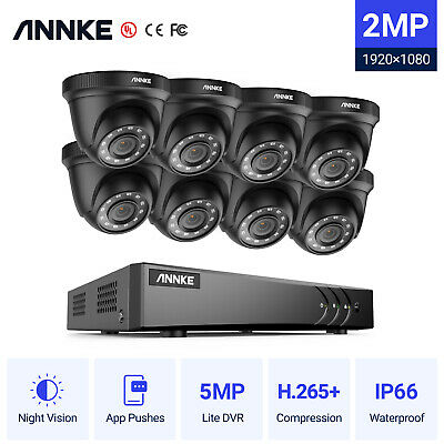AU265.99 • Buy ANNKE 5MP 8CH /4CH H.265+ 5IN1 DVR 1080P 3000TVL Security IR Cut Camera System