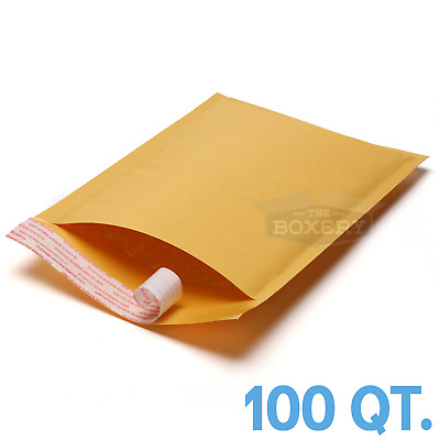 $19.50 • Buy 100 #0 Kraft Bubble Padded Envelopes Mailers 6 X 10 From TheBoxery