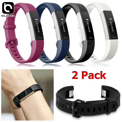 $ CDN11.09 • Buy 2-Pack Silicone Replacement Wrist Band Strap For Fitbit Alta & Alta HR Wristband