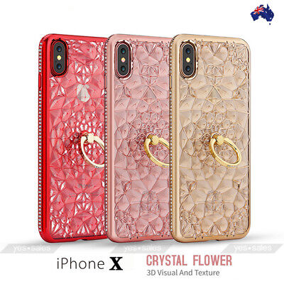 AU9.99 • Buy For IPhone 8 7 Plus Case Diamond Flower Ring TPU Plating Shockproof Gift Cover
