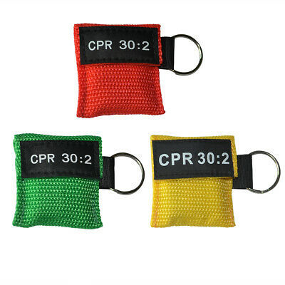 £4.70 • Buy 3pcs CPR Face Shield First Aid CPR Barrier 30:2 Training Keyring CPR  Keychain