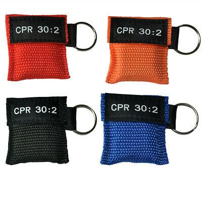 £5.40 • Buy 4pcCPR Face Shield First Aid CPR  30:2 Training Keyring CPR Keychain 4 Color