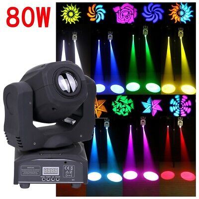 80W Moving Head Stage Light Gobo RGBW LED DMX Spot Club Disco DJ Party Lighting • 114.99£