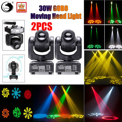 2PCS U`king Stage Lighting Spot GOBO RGBW 30W LED Moving Head DMX Disco DJ Party • 129.99£