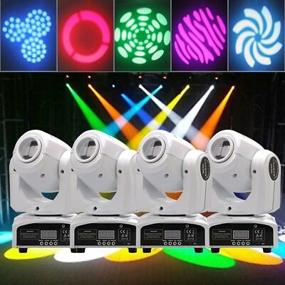 U`king 4PCS 30W Stage Light Spot GOBO RGBW LED Moving Head DMX Disco DJ Party • 195.99£