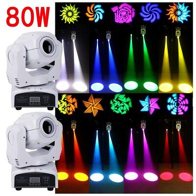 2PC 80W Moving Head Stage Light Gobo RGBW LED DMX Disco Club DJ Party Lighting • 149.99£