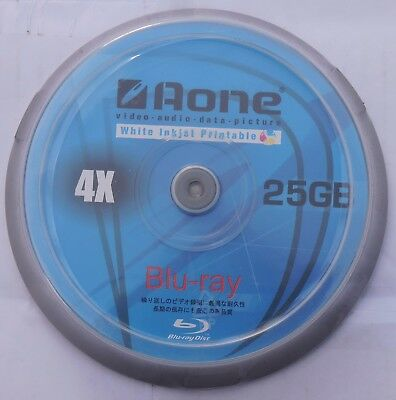 £22.99 • Buy Aone Blu Ray Blank Discs Full Face White Printable 25GB BD-R 50 Pack