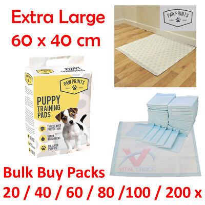 £6.95 • Buy Dog Puppy Extra Large Training Pads Pad Wee Wee Floor Toilet Mats 60 X 40cm 200