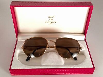 a565ccdb1b0 New Cartier Romance Vendome 54mm Rose Gold Sunglasses France 18k • 899.00