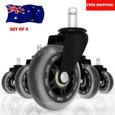 AU30.99 • Buy 5pcs Rollerblade Office Desk Chair Wheels Replacement Rolling Caster Grip Ring O