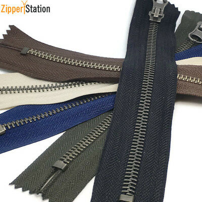 Brass Metal Closed End #5 Zips - Pocket, Bag, Trouser Zippers (BR5CE) • 2.30£