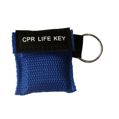 £1.80 • Buy 1 X CPR Face Shield Keychain CPR Face Shield With Filter First Aid Resus Blue