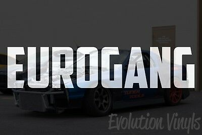 $1.99 • Buy EUROGANG V2 Decal Sticker - JDM Lowered Stance Low Drift Slammed Turbo Slammed