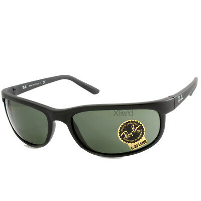 AU162.95 • Buy Ray-Ban RB2027 W1847 Predator 2 Matte Black/Green Sports Wrap-Around Sunglasses