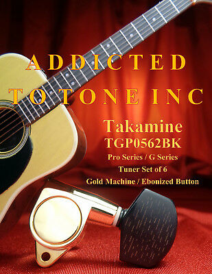 $ CDN157.29 • Buy Takamine Acoustic Guitar Tuner TGP0562BK / GOLD With Faux Wood Button / OEM Part