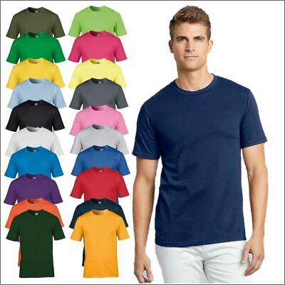 Gildan Premium Cotton Mens T-Shirt Round Neck Plain T Soft Casual Tee Tshirt TOP • 3.99£