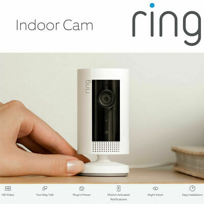 £49.99 • Buy RING Indoor Cam - Compact Camera 1080p HD Live View Night Vision Two Way Audio