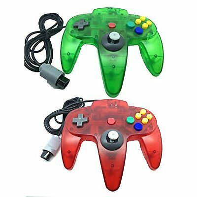 $ CDN28.08 • Buy Lot Of 2 Classic Retro Wired Controllers For N64 Clear Red And Clear