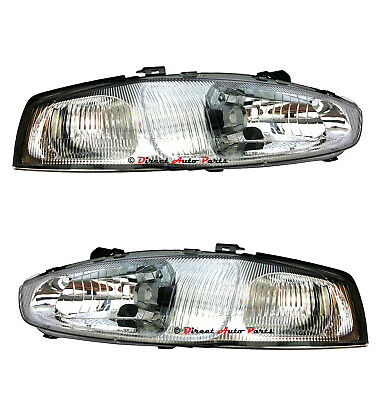 $150.86 • Buy *NEW* HEAD LIGHT LAMP Suit MITSUBISHI LANCER MIRAGE CE COUPE 2DR 1998 -2003 PAIR