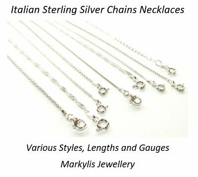 925 STERLING SILVER NECKLACE CHAIN - Various Styles And Lengths Available • 5.87£