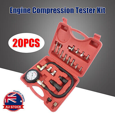 AU42.99 • Buy 20pcs Diesel Engine Compression Automotive Compressor Tester Kit Tool Set O