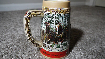 $ CDN31.33 • Buy Vintage 1987 Budweiser  C  Series Beer Stein Christmas Limited Edition