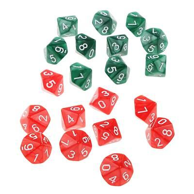 AU10.81 • Buy 20X 10 Sided Dice D10 Acrylic Polyhedral Dice For  Game