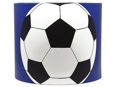£28.99 • Buy Blue Football Light Shade Drum Lampshade Kids Boys Bedroom Goal Accessories Gift