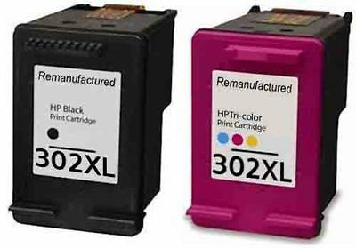 £25.25 • Buy Remanufactured Ink For HP 302 XL Black And HP 302XL Colour Ink Cartridges