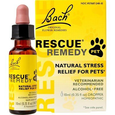Rescue Remedy NATURAL STRESS RELIEF FOR PETS Dogs Cats Horses & Birds • Pet Bach • 12.95£