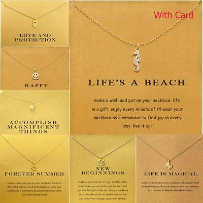 £3.29 • Buy Necklace With Card Pendant Infinite Love Luck Necklace Valentine's Day Gift Idea
