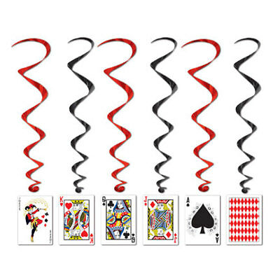 $7.04 • Buy Casino Night Playing Card Whirls