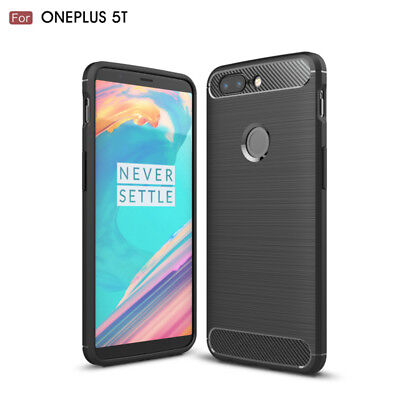 AU9.99 • Buy SANDI Black Colour Slim Armor Shockproof TPU Back Case Cover For OnePlus 5T 5