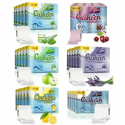 £16.99 • Buy Cusheen 60 Rolls Of Quilted Scented Toilet Paper, 3Ply Luxury Bathroom Tissue