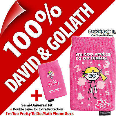 £4.97 • Buy David & Goliath Double Layer Sock For Mobile / Small Smart Phone MP3 Case Cover