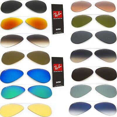 £35.63 • Buy Genuine Replacement Lenses Ray Ban Aviator 3025 Classic Or Polarized Sunglasses