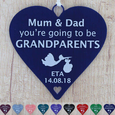 £5.49 • Buy Pregnancy Announcement Gifts You're Going To Be Grandparents Daddy Auntie Uncle