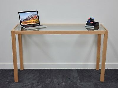 AU99 • Buy Office, Study, Student Desk With Solid Timber Frame And Tempered Glass Insert